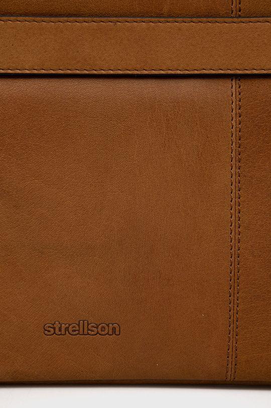 zlatohnedá Strellson - Kožená taška