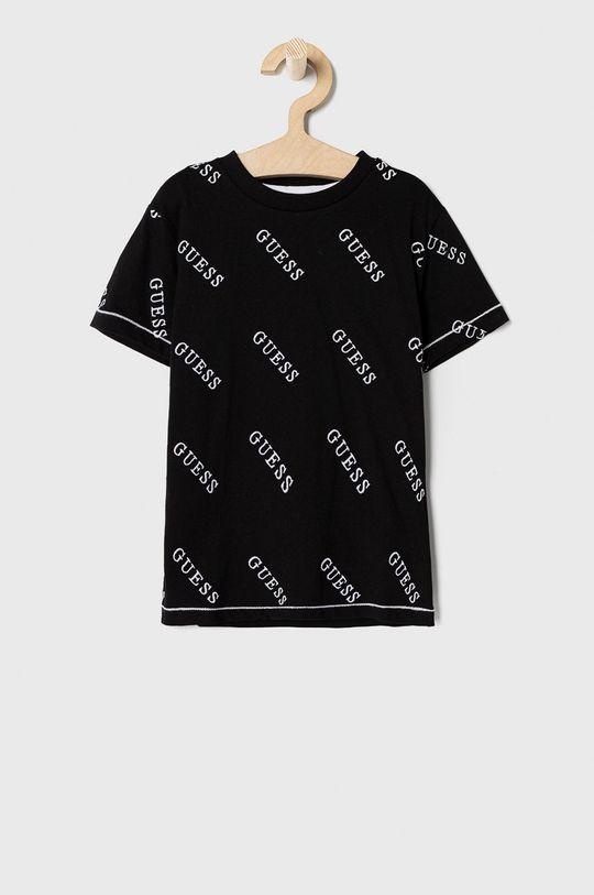 czarny Guess - T-shirt dziecięcy 92-122 cm Chłopięcy
