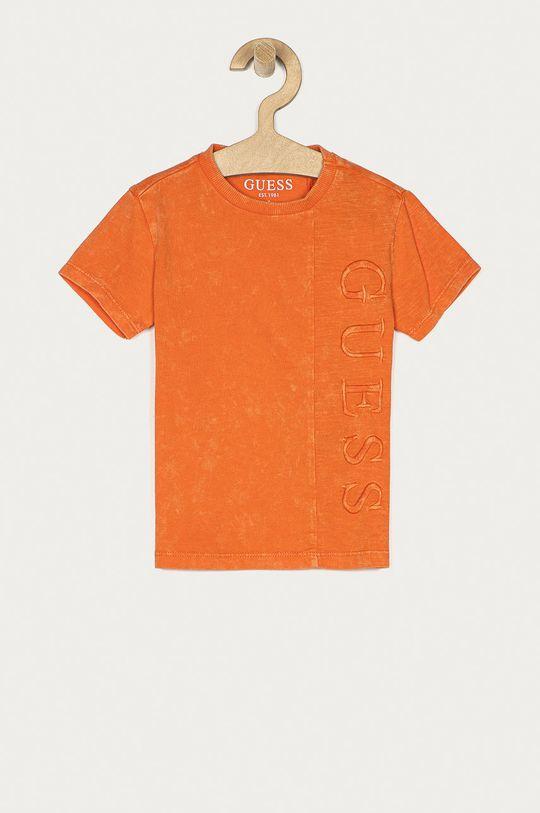 oranžová Guess - Detské tričko 92-122 cm Chlapčenský
