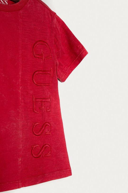 Guess - T-shirt dziecięcy 92-122 cm czerwony