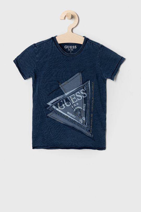 granatowy Guess - T-shirt dziecięcy 92-122 cm Chłopięcy