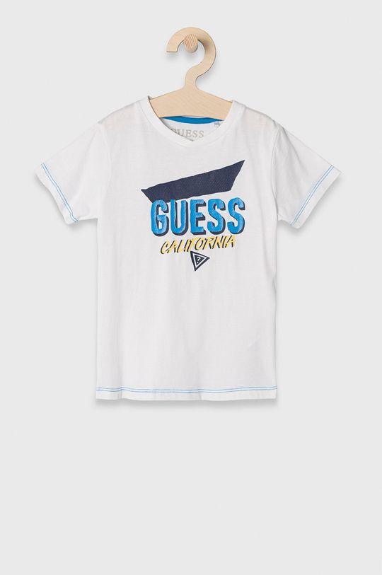 biały Guess - T-shirt dziecięcy 92-122 cm Chłopięcy