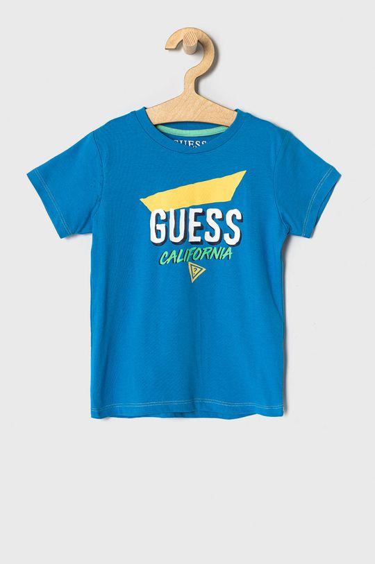 niebieski Guess - T-shirt dziecięcy 92-122 cm Chłopięcy