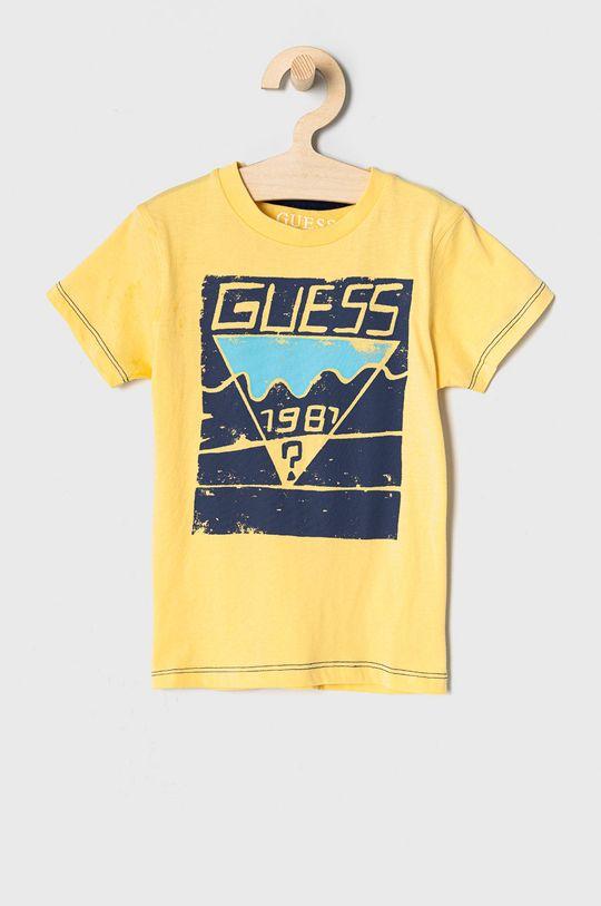 żółty Guess - T-shirt dziecięcy 92-122 cm Chłopięcy