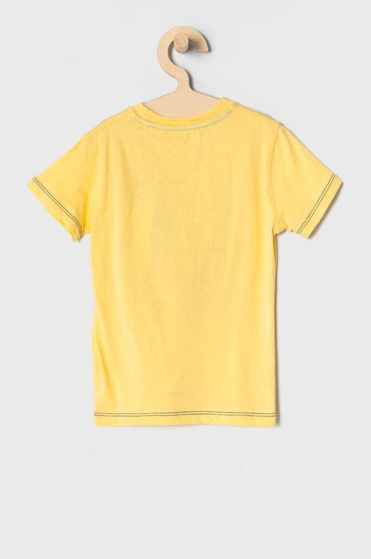 Guess - T-shirt dziecięcy 92-122 cm żółty