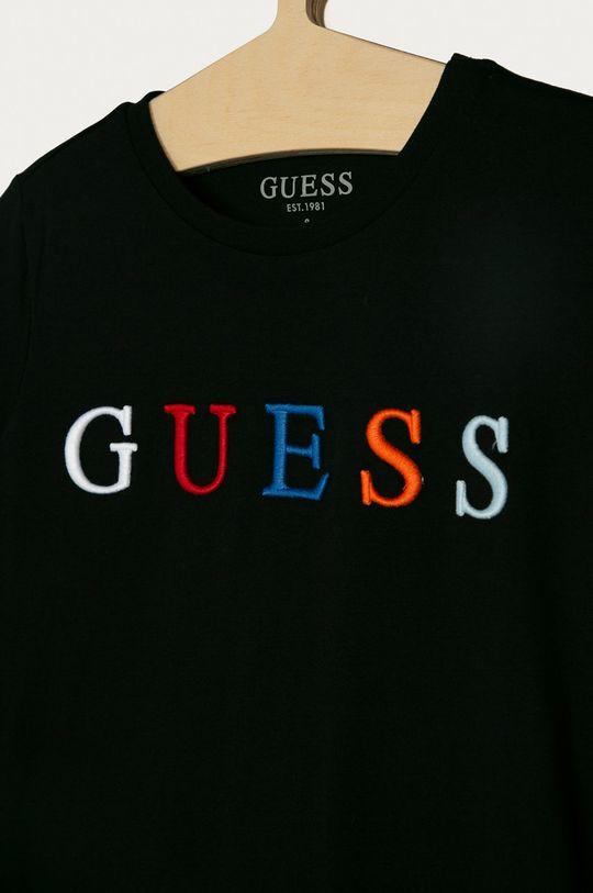 Guess - T-shirt dziecięcy 116-175 cm czarny
