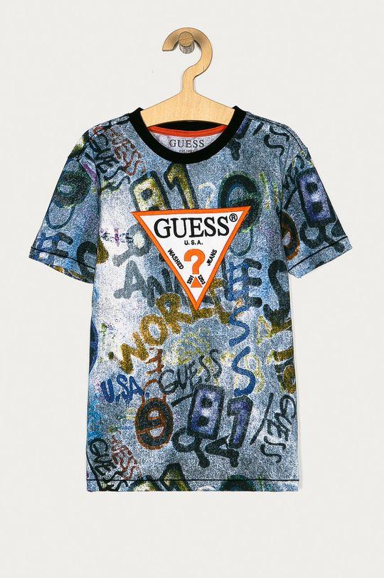 granatowy Guess - T-shirt dziecięcy 128-175 cm Chłopięcy