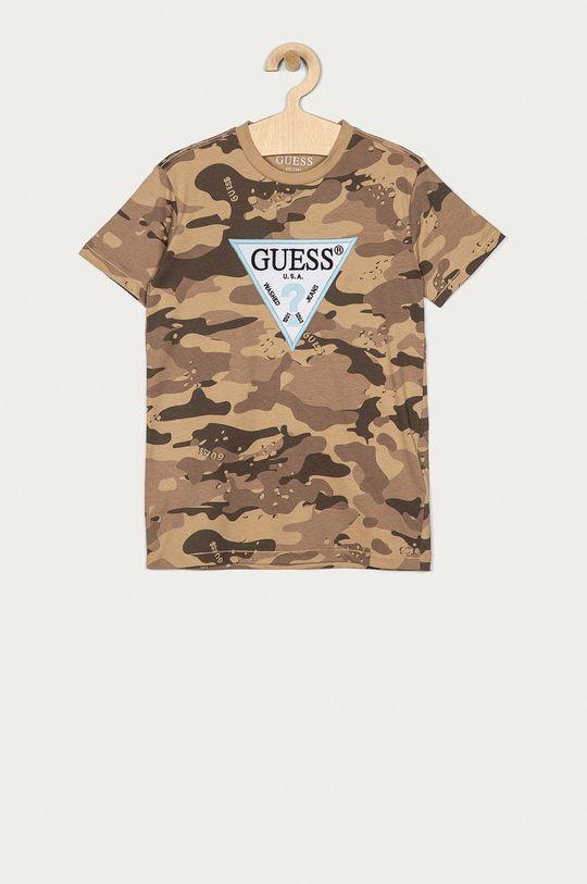 hnědá Guess - Dětské tričko 128-175 cm Chlapecký