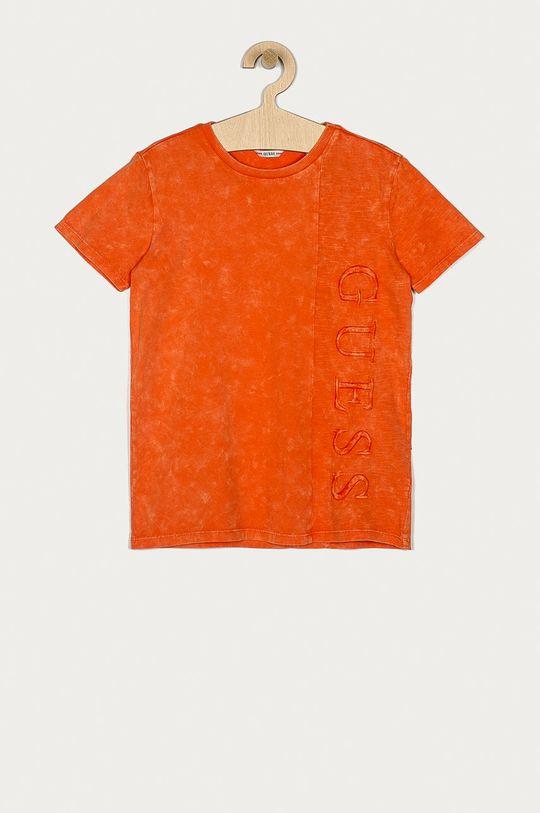 oranžová Guess - Dětské tričko 128-175 cm Chlapecký
