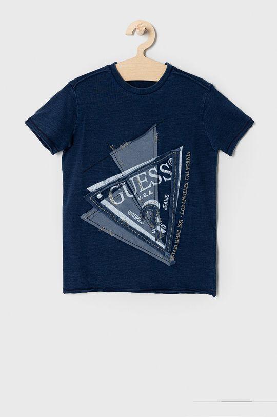 granatowy Guess - T-shirt dziecięcy 122-176 cm Chłopięcy