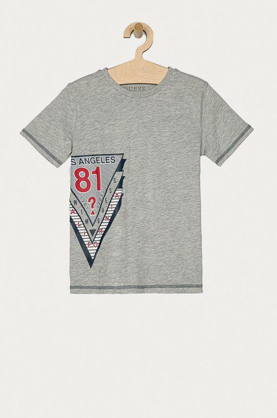 szary Guess - T-shirt dziecięcy 116-176 cm Chłopięcy