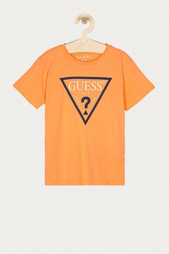 broskvová Guess - Dětské tričko 104-175 cm Chlapecký