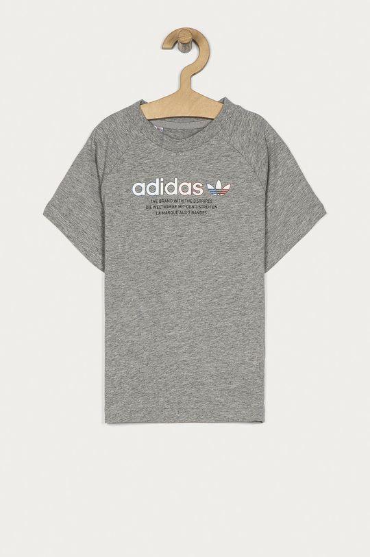 svetlosivá adidas Originals - Detské tričko 104-128 cm Chlapčenský