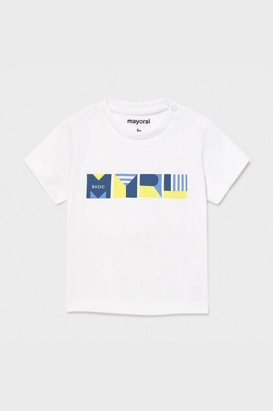biały Mayoral - T-shirt dziecięcy Chłopięcy