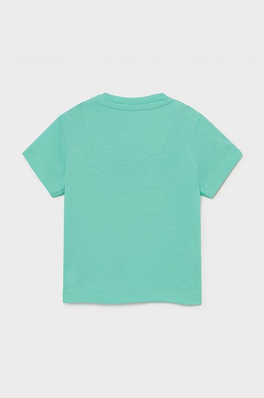 Mayoral - T-shirt dziecięcy jasny turkusowy