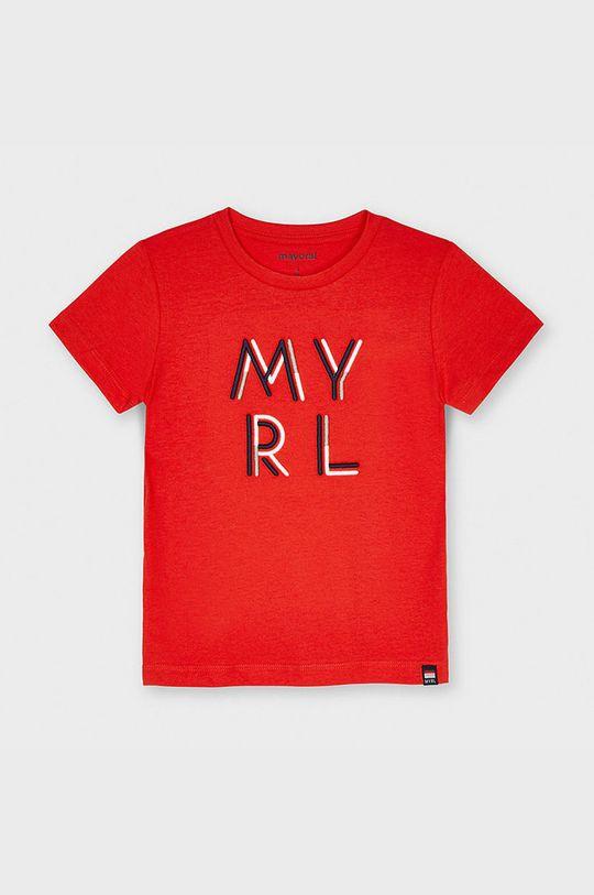 ostry czerwony Mayoral - T-shirt dziecięcy Chłopięcy