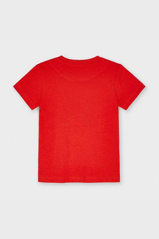 Mayoral - T-shirt dziecięcy ostry czerwony