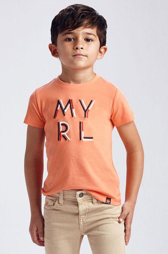 koralowy Mayoral - T-shirt dziecięcy Chłopięcy