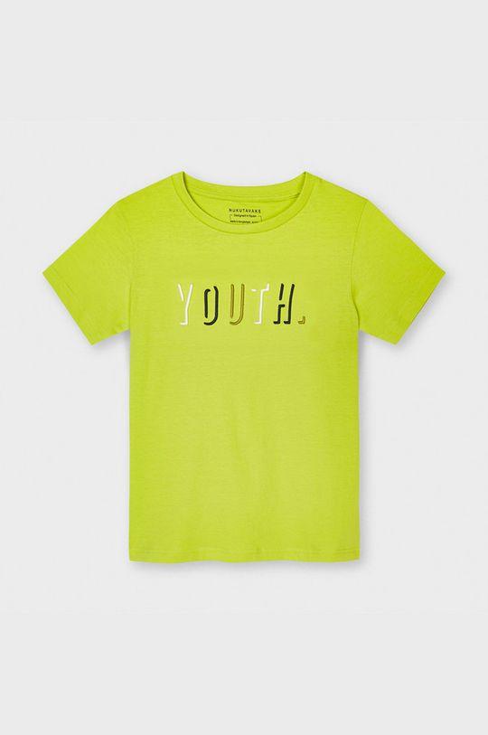 żółto - zielony Mayoral - T-shirt dziecięcy Chłopięcy