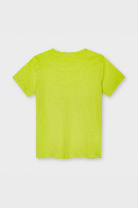 Mayoral - T-shirt dziecięcy żółto - zielony