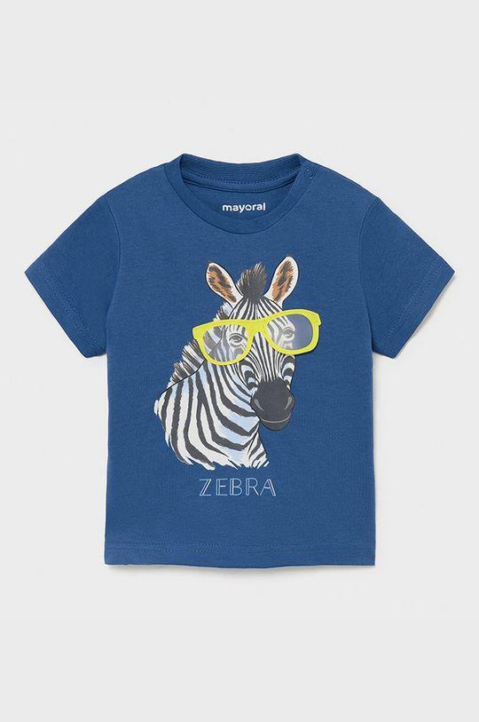 fioletowy Mayoral - T-shirt dziecięcy Chłopięcy