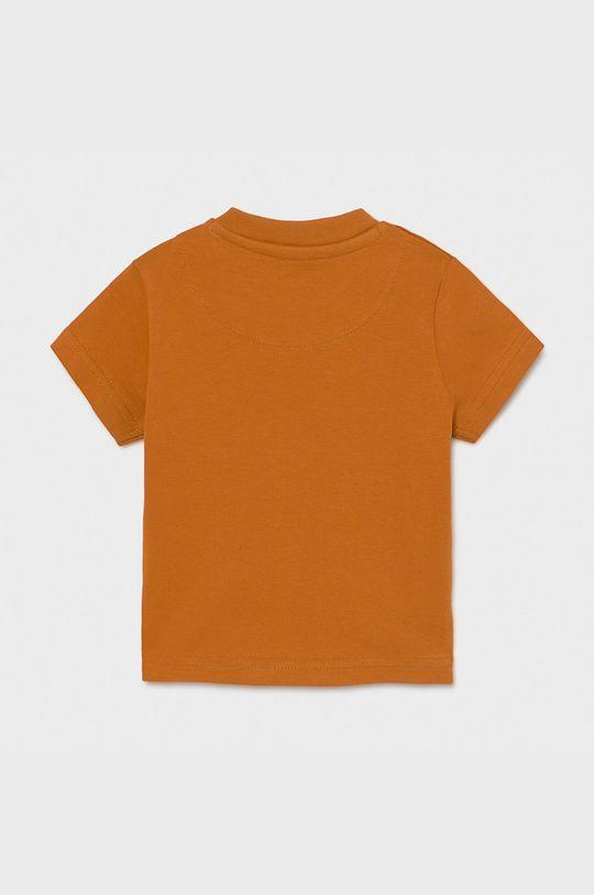Mayoral - T-shirt dziecięcy złoty brąz