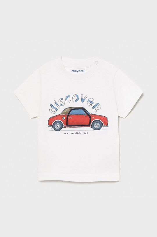 Mayoral - T-shirt dziecięcy biały