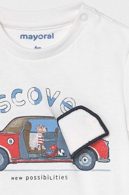 biały Mayoral - T-shirt dziecięcy
