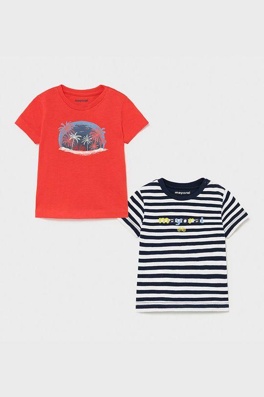ostry czerwony Mayoral - T-shirt dziecięcy (2-PACK) Chłopięcy