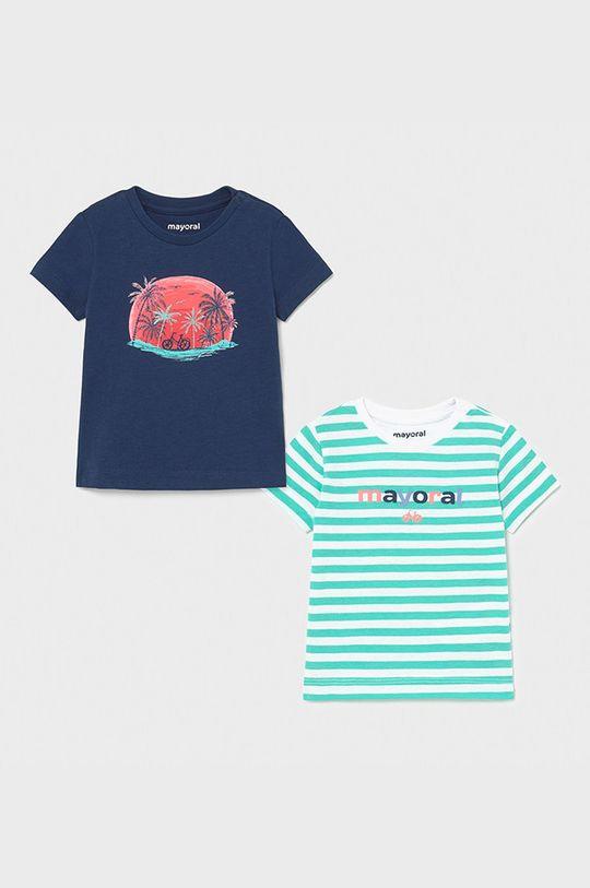 jasny turkusowy Mayoral - T-shirt dziecięcy (2-PACK) Chłopięcy
