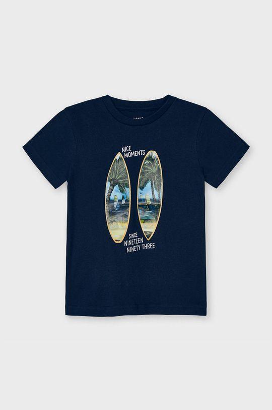 granatowy Mayoral - T-shirt dziecięcy Chłopięcy