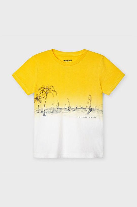 Mayoral - T-shirt dziecięcy żółty