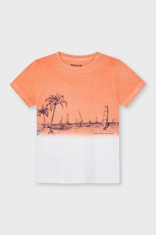 brzoskwiniowy Mayoral - T-shirt dziecięcy Chłopięcy