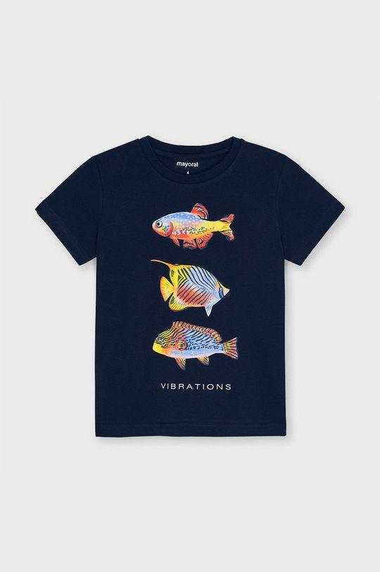tmavomodrá Mayoral - Detské tričko Chlapčenský