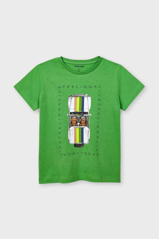 Mayoral - Tricou copii verde ascutit