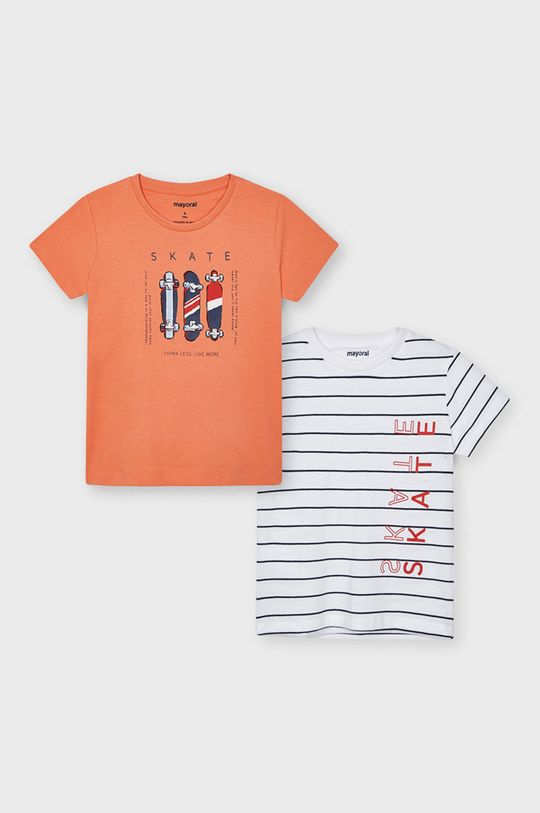 koralowy Mayoral - T-shirt dziecięcy (2-PACK) Chłopięcy