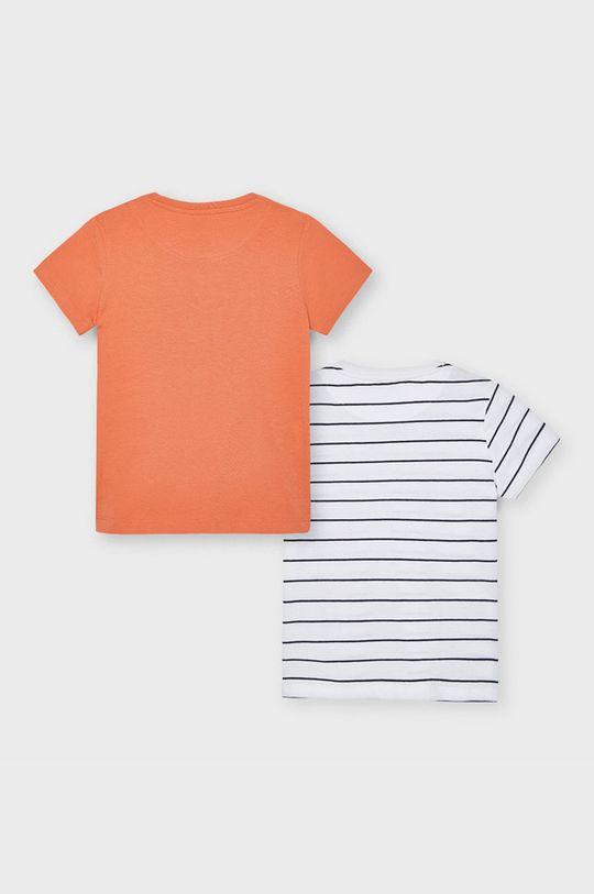 Mayoral - T-shirt dziecięcy (2-PACK) koralowy