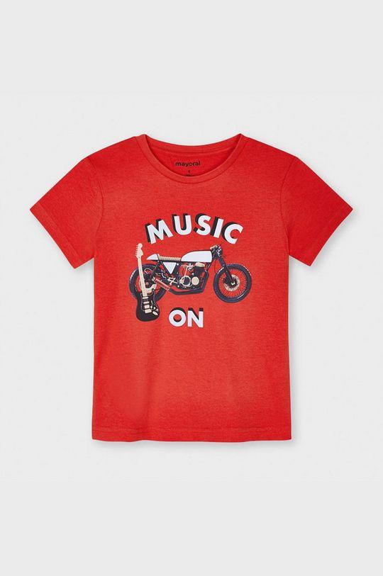 sýtočervená Mayoral - Detské tričko Chlapčenský