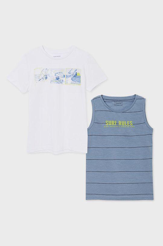 Mayoral - T-shirt dziecięcy 128-172 cm (2-pack) blady niebieski
