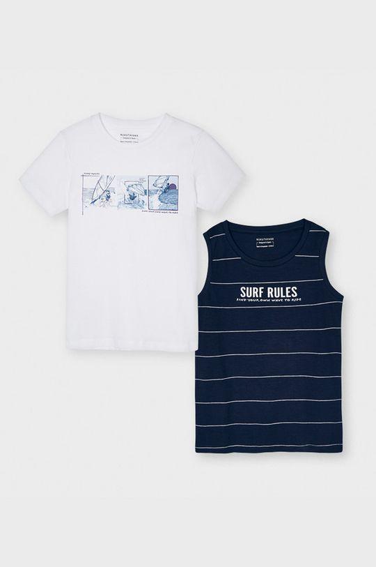tmavomodrá Mayoral - Detské tričko 128-172 cm (2-pak) Chlapčenský