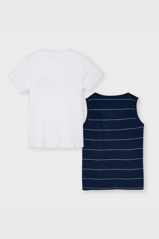 Mayoral - Detské tričko 128-172 cm (2-pak) tmavomodrá