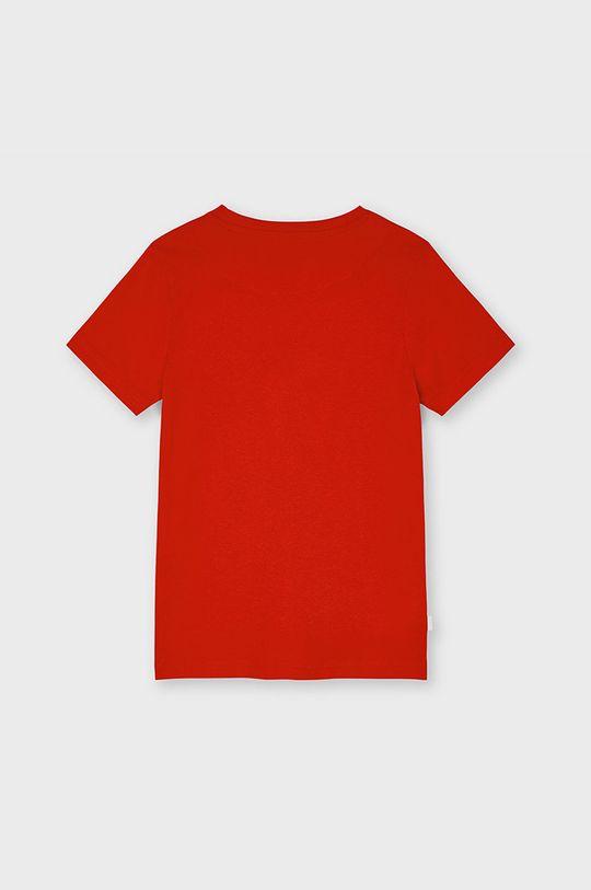 Mayoral - T-shirt dziecięcy czerwony