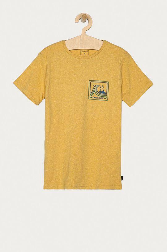 jasny żółty Quiksilver - T-shirt dziecięcy 128-172 cm Chłopięcy