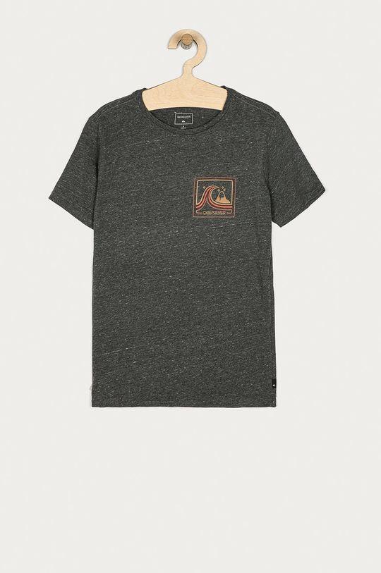 czarny Quiksilver - T-shirt dziecięcy 128-172 cm Chłopięcy