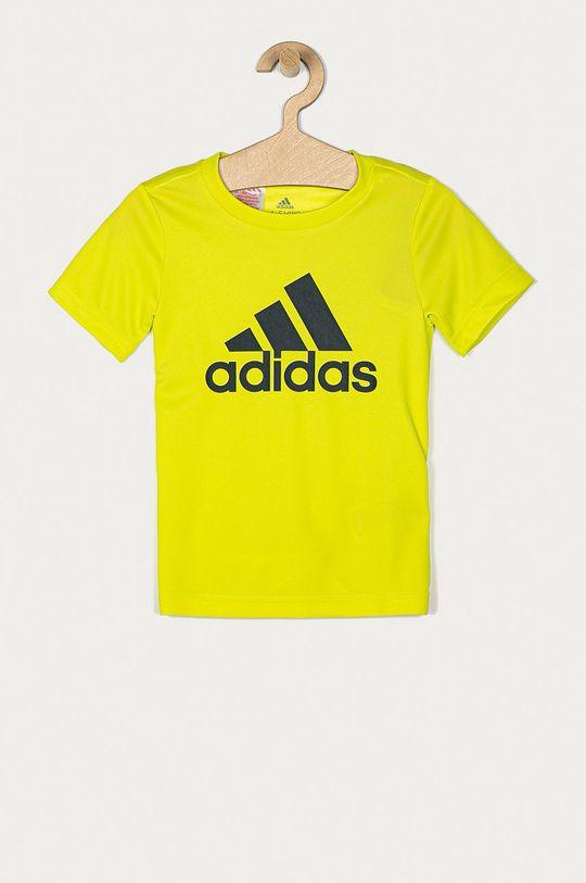 žlutě zelená adidas - Dětské tričko 104-176 cm Chlapecký