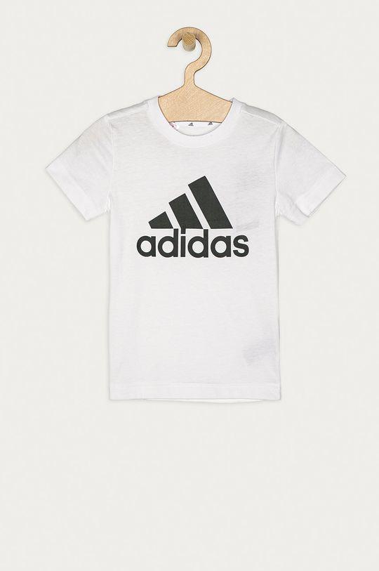 bílá adidas - Dětské tričko 104-176 cm Chlapecký
