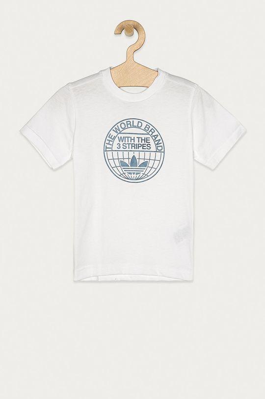 biela adidas Originals - Detské tričko 104-128 cm Chlapčenský
