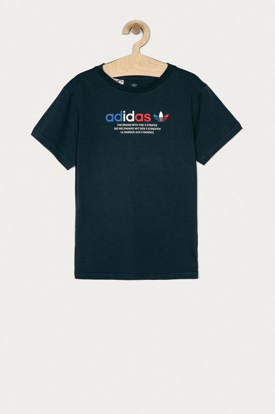 námořnická modř adidas Originals - Dětské tričko 146-176 cm Chlapecký