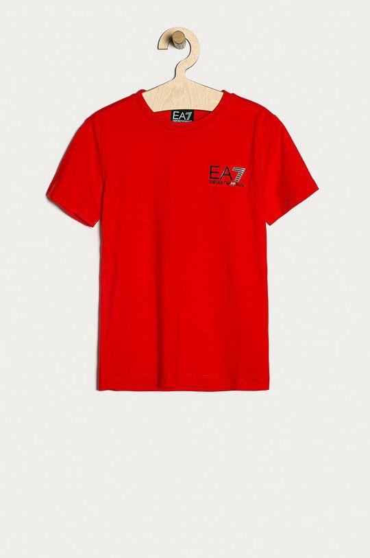 červená EA7 Emporio Armani - Detské tričko 104-164 cm Chlapčenský