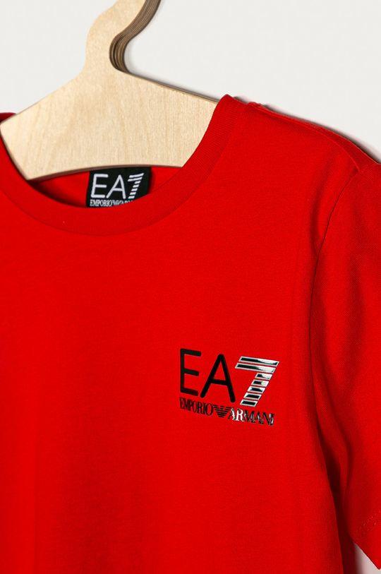 EA7 Emporio Armani - Detské tričko 104-164 cm červená